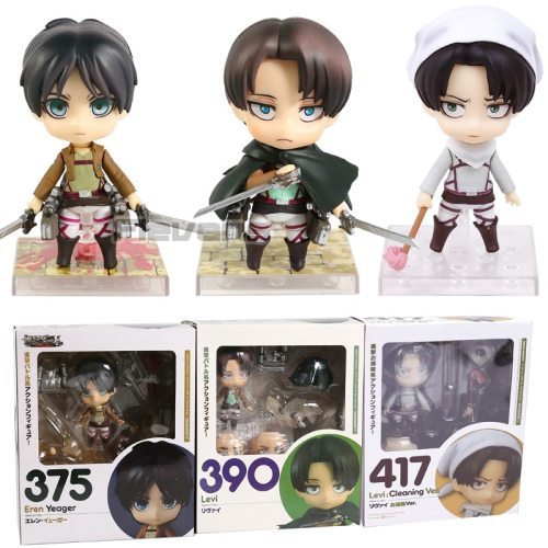 Attack on Titan Levi Cleaning Ver. 417 390 Eren 375 PVC Action Figure Collectible Model Toy