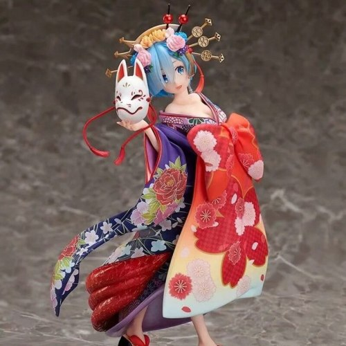 15cm Re:Life In A Different World From Zero Rem Action Figure  Anime PVC Oiran Dochu Ver. Collection Model Dolls Toys for Gifts