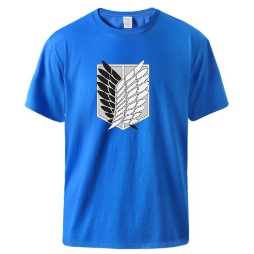 Attack on Titan Streetwear Men T-shirts Fashion Cotton New Tshirts Vintage Punk Style Tees Male Bodybuilding Tops Male Camiaetas