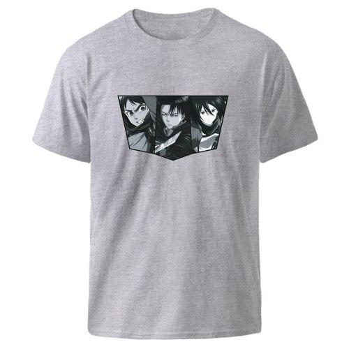 Kpop Fashion Tops Mens Short Sleeve T shirts Attack on Titan Harajuku Graphic Streetwear Tee Shirt High Quality Black Anime Top