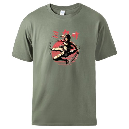 Attack On Titan Anime T shirts Men Summer Short Sleeve Cotton T shirts Homme Hip Hop Soft Casual Tshirt Persoanlity Graphic Top