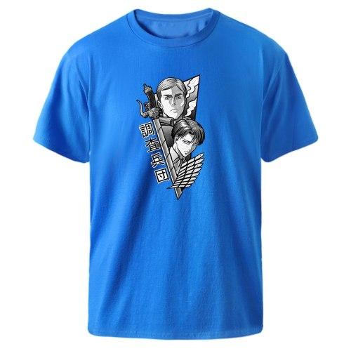 2021 Man T shirts Attack On Titan Anime Loose Black Kpop Streetwear Top New Fashion Brand Summer Short Sleeve Casual T-shirts