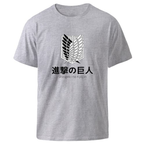 Fashion T-shirts Man Attack on Titan Harajuku Loose Tops 2021 Summer Casual O Neck Black Clothes Tee shirts Homme Graphic Tshirt