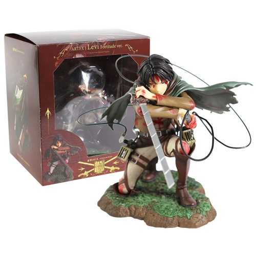Anime Attack On Titan Levi Ackerman Bloody Battle Version Model Toys Rivaille Rival Action Figure Toys For Children Collectibles