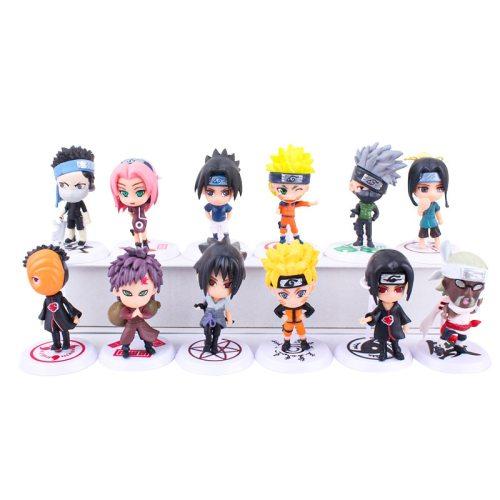 6pcs/set Anime Naruto Action Figure Toys 7cm Gaara Zabuza Sasuke Tobio Kakashi Ninja Puppet Model Ornaments Collectible Gift Toy