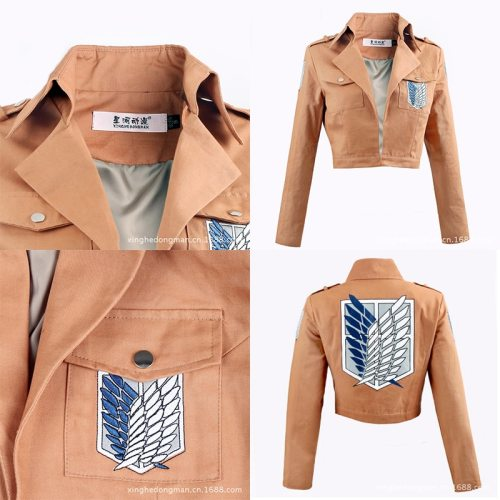 Action Anime Attack on Titan Jacket Levi Ackerman Cosplay Costume Eren Jäger Willier Coat Men's  Women's Gift Collection Clothes