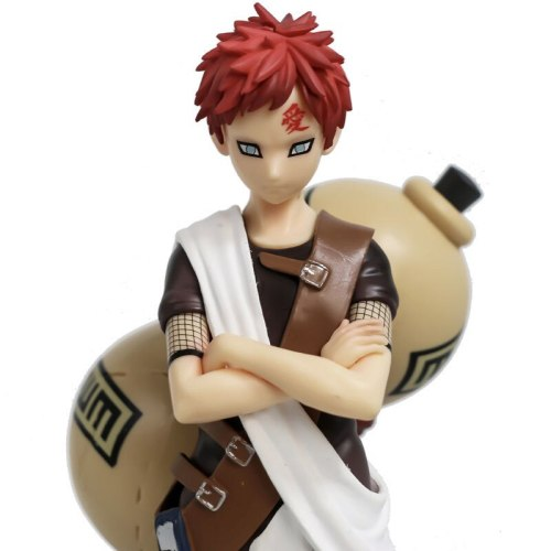 Action Anime Naruto Gaara Figure Toys For Children Hidden Sand Village Wind Country Ninja 20cm Gaara Collectible Model Gift Toys