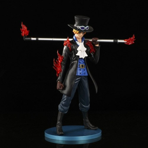 22.5CM Hand-made Anime Toy Peripheral Cartoon Burning Fruit Sabo Doll Toys Decoration Model Gift for Teenagers Youth