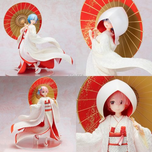 29cm Anime F:NEX Re:Life In A Different World From Zero Ram/Rem Shiromuku Ver. Action Figure Collection PVC Model Toy Collection