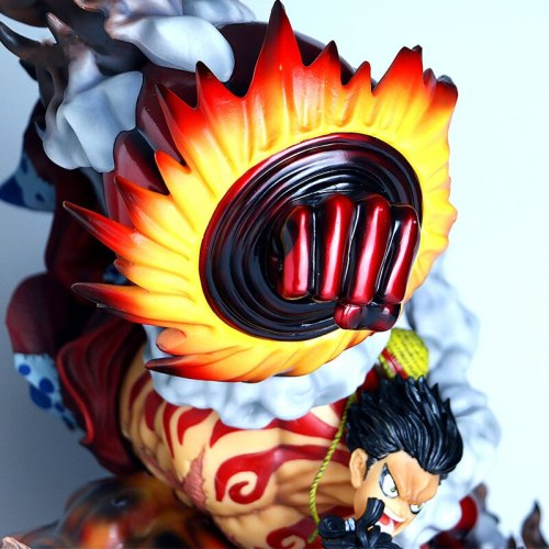 Anime 50cm Statue One Piece Monkey D Luffy GK Gear Fourth Snakeman Action Figure Model Toys Statue Collection Toy Doll Gift
