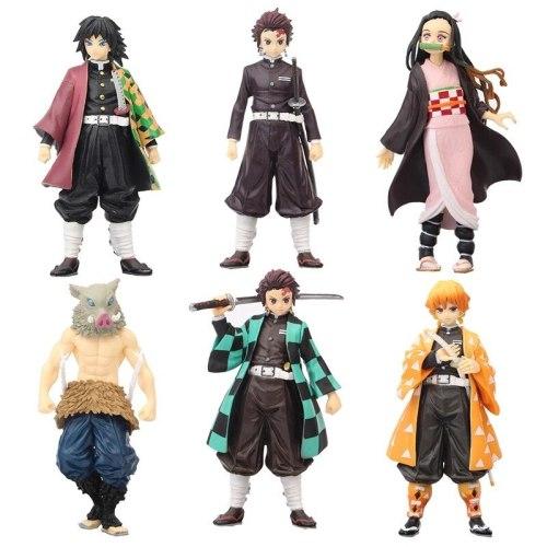 Demon Slayer Anime Toy Figure Tanjiro Nezuko Zenitsu Inosuke Giyuu 15 Original Colors Different Color Model Doll Ornaments Youth