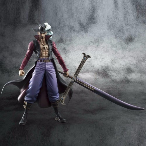 Anime One Piece Action Figure Hawk Eye doll model assembled gift hot kids toy Dracule Mihawk figurine collectibles brinquedos