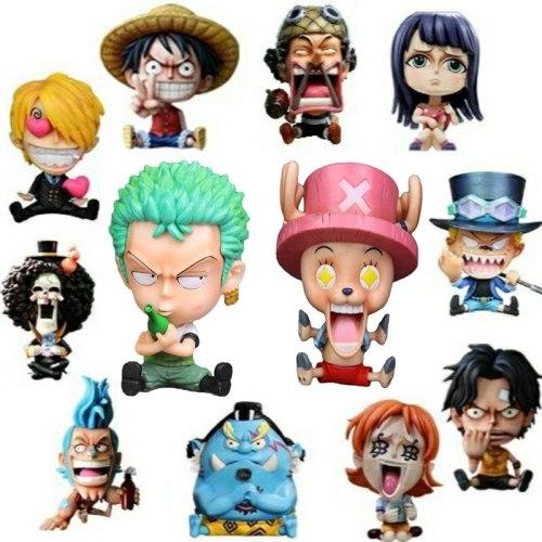 One Piece Luffy Ace Sabo Roronoa Zoro Nami Usopp Sanji Tony Tony Chopper Nico Robin Franky Brook Jinbe PVC Action Figure Model