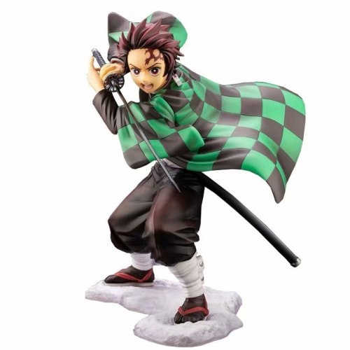 15CM Anime Demon Slayer Large Edition Tanjiro Nezuko Inosuke Replaceable Face Boxed Figure Collectible Toy Gift for Youth Adult