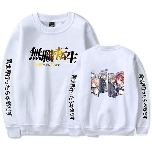 Print Mushoku Tensei Pullover 2021 New Japan Anime Harajuku Streetwear Men Women Fashion Long-sleeved Sweatshirt