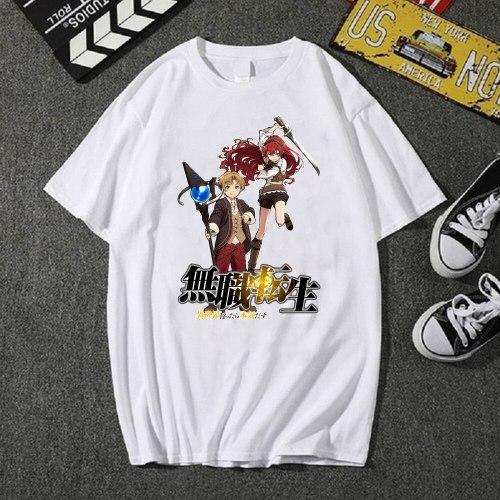 Mushoku Tensei Harajuku O-neck Fashion Hip Hop Fashion Anime T-shirt
