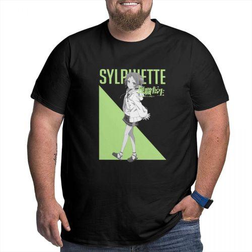Jobless Reincarnation Mushoku Tensei Sylphiette T Shirt Camisetas Big Size Cotton Short Sleeve Shirt Men