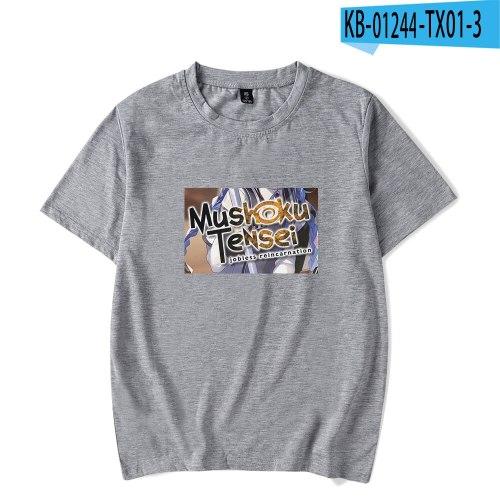 Mushoku Tensei summer comfortable T-shirt loose short-sleeved casual all-match neutral T-shirts tops