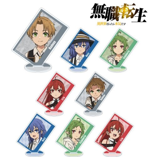 Anime Mushoku Tensei: Jobless Reincarnation Rudeus Greyrat Acrylic Figure Stand Display Model Plate Cosplay Tabletop Decor Gift