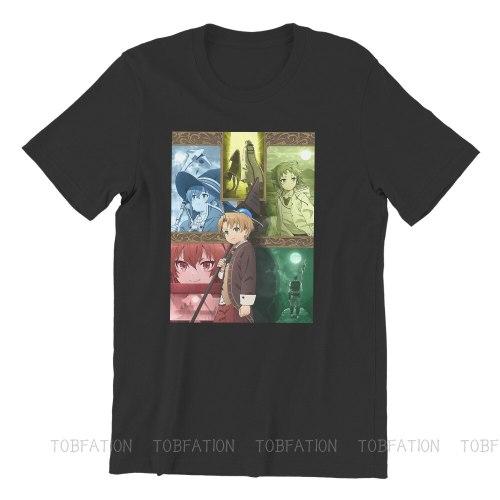 Mushoku Tensei Jobless Reincarnation Poster Tshirt Top Graphic Men Classic Alternative Summer Clothes Cotton Harajuku T Shirt