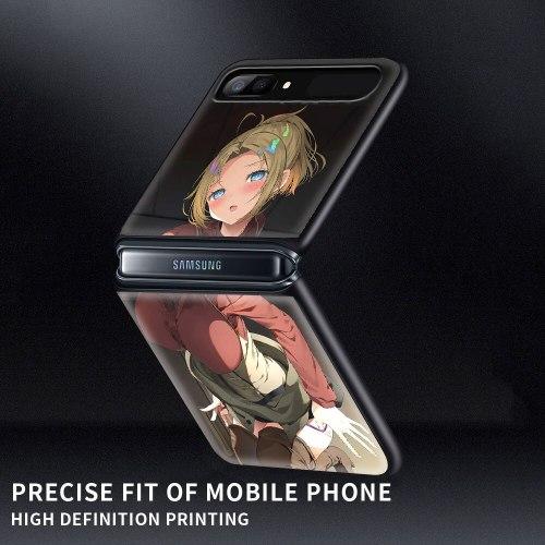 Mushoku Tensei PC Case for Samsung Galaxy Z Flip 5G Hard Plastic Phone Coque Folding Splitting Shell for Galaxy ZFlip 6.7 Capa