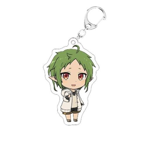 Mushoku Tensei Jobless Reincarnation Acrylic Keychain Cute Anime Mushokutensei Pendant Keyring Jewelry