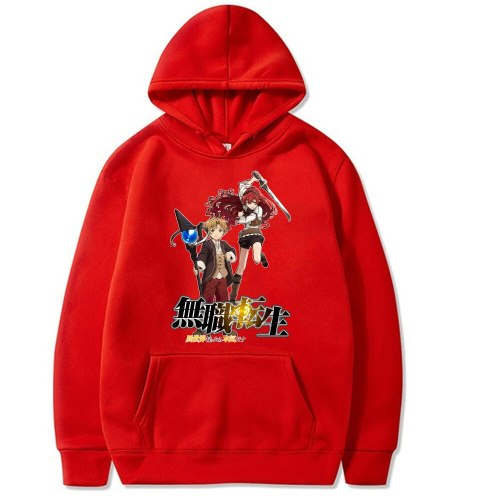 Anime Mushoku Tensei Hoodie Casual Loose Print Streetwear Male Cloth