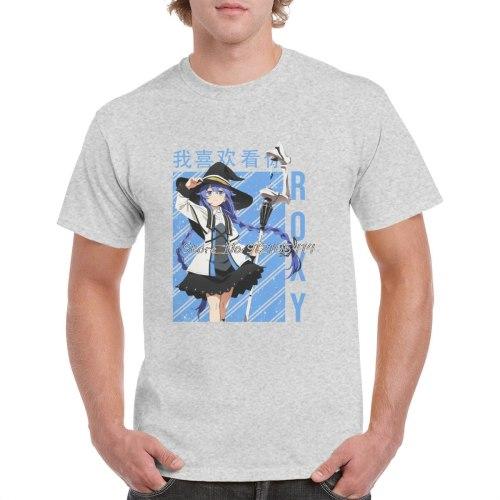 Roxy Migurdia T Shirt Unisex Harajuku Mushoku Tensei Jobless Reincarnation Anime Tops Casual Graphics Cotton T-shirt Streetwear