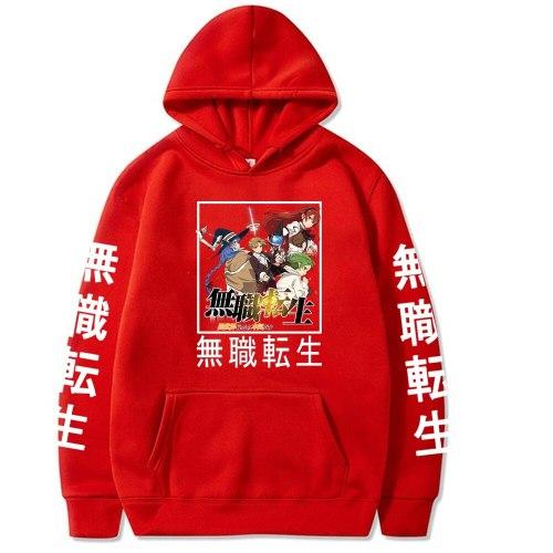 Mushoku Tensei Hoodies Casual Anime Hoodie Sweatshirt