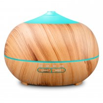 Tenswall 400ml Wood Grain Essential Oil Diffusers Ultrasonic Humidifier Portable Aromatherapy Diffuser with Cool Mist and 7 Colour Changing LED Lights Aroma Diffuser, Waterless Auto off Air Purifiers