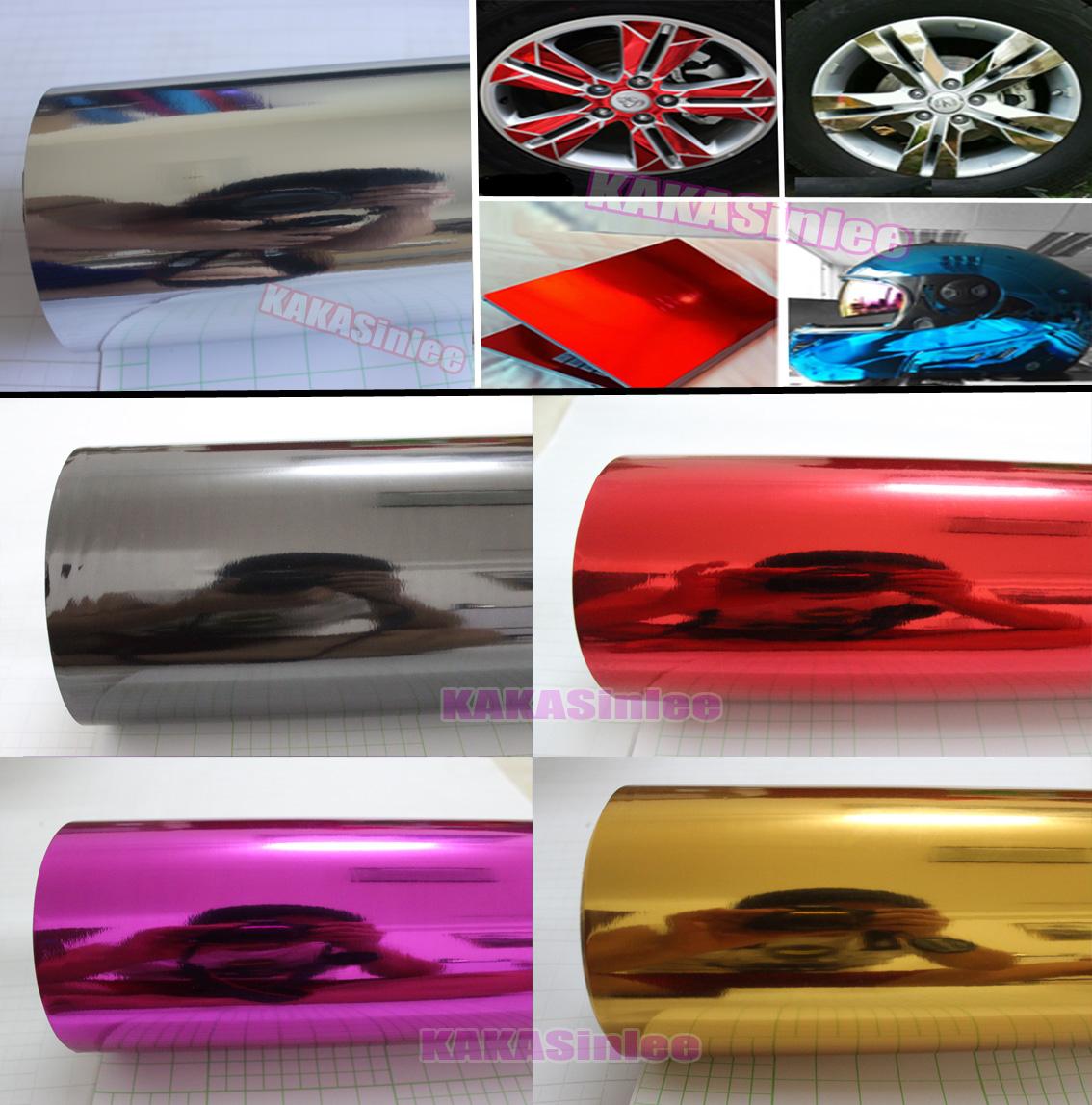 Air//Bubble Free Mirror Chrome Vinyl Car Wrap Various Size /& Colours
