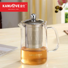 Kamjove A-03 Clear Glass Teapot with Stainless Steel Fine Infuser 500ml Tea Pot