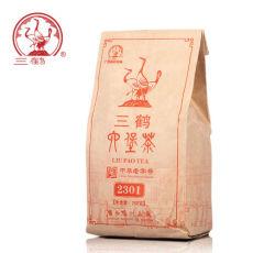 Three Cranes Liupao 2301 Aged Loose Liu Bao Dark Tea 250g Guangxi Wuzhou Tea