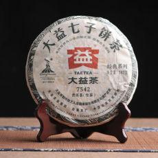 Genuine Puerh 7542 Raw * 2010 Yunnan Menghai Dayi Raw Pu'er Tea Cake 357g TAETEA