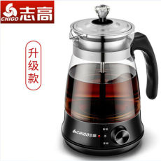 Chigo Glass Electric Steam Tea Maker Kettle with Stainless Steel Filter 1L 220V
