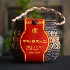 CHINA TEA 8218 Wuzhou Liu Pao Hei Cha Liu Bao Aged Black Dark Tea In Basket 500g