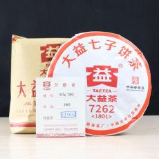 TAETEA 7262 * Yunnan Menghai Dayi Tea Factory Pu Erh Ripe Tea 357g 1801 Batch
