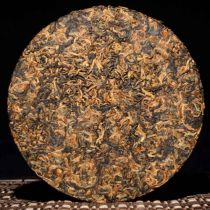 Premium Golden Bud Dianhong Dian Hong Full Leaf Yunnan Black Tea Pancake 100g