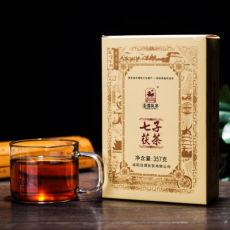Jingwei Fu Tea Shaanxi Jinhua Qizi Fu Cha Brick Golden Flower Dark Tea 357g