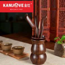 Kamjove Calamander Wood Set Chinese Cha Dao Set 6 Pieces Ebony Tea Set Kung Fu