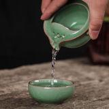 Chinese Tea Set Travel Longquan Celadon Kuai Ke Bei Include 1 Pot 1 Cup Quik cup