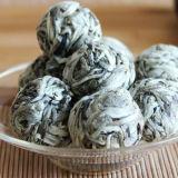 Ball Shaped Pearl Silver Needle White Tea Bai Hao Yin Zhen Organic Handmade