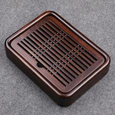 27*20*5cm Kongfu Tea Tray Luxury Small Gongfu Tea Tray with Water Tank Ebony