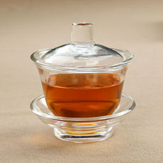 Borosilicate Heat-resistant Mouth-blown Clear Glass Gaiwan Middle Size 150ml