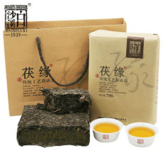 BAISHAXI FUYUAN Hunan Anhua Dark Tea Golden Flower Fu Zhuan Black Tea 750g