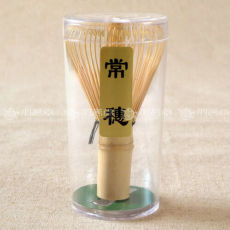 Tsuneho White Bamboo Chasen Matcha Whisk 64 Japanese Whisk for Preparing Matcha