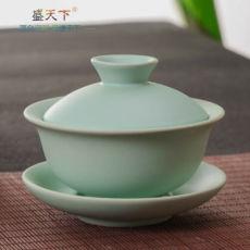 Ruyao Gaiwan Celadon Gongfu Tea Set Tureen Cup Gaiwan 150ml Jingdezhen Ru Kiln