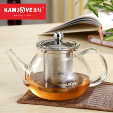 Kamjove A-11 Heat Resistant Glass Teapot with Stainless Steel Infuser 700ml
