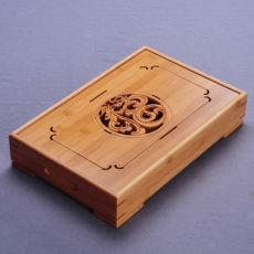 China Dragon & Phoenix Bamboo Kungfu Tea Ceremony Table Tabletop Serving Tray