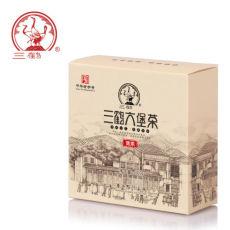 Premium Three Cranes Liupao Hei Cha Liu Bao Black Tea Cake Dark Tea 100g